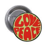 love peace Hippie Spruch Anstecknadel