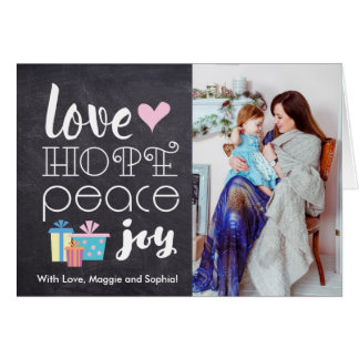 Love, Peace, Hope, Joy MINI- Holiday Photo Card