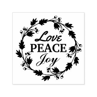 Love Peace Joy Christmas Holiday Self-inking Stamp