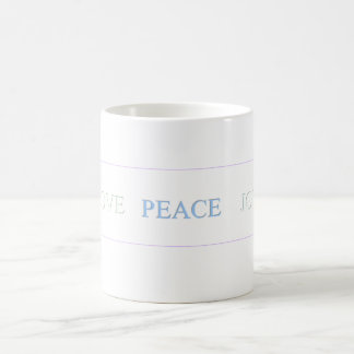 LOVE   PEACE   JOY - Customized Coffee Mug