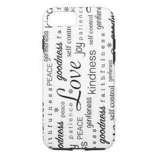 Love PEACE Joy Fruit of the Spirit Black White iPhone 7 Case