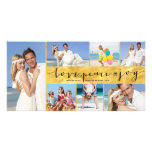 Love Peace Joy Gold Foil Collage Holiday Greetings Photo Cards