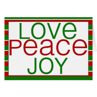 love, peace, joy holiday card