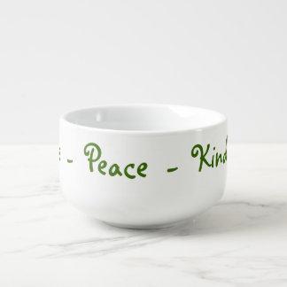 Love Peace Kindness Soup Mug