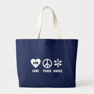 Love Peace LPN Large Tote Bag