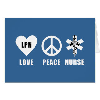 Love Peace LPN Note Card