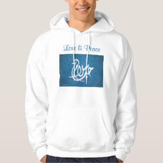 Love & Peace mens hoodie