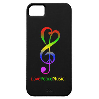Love peace music hippie treble clef iPhone 5 cover