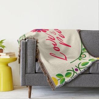 Love & Peace Throw Blanket