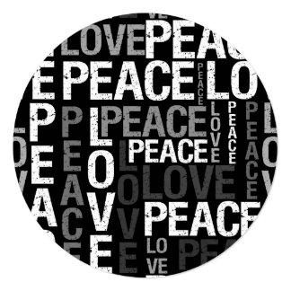 Love Peace Typography Sweet Sixteen Card
