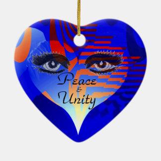 Love,Peace & Unity _ Ceramic Heart Ornament