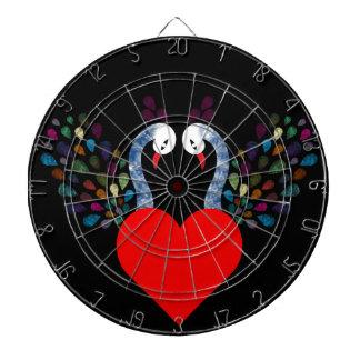 love pecock 3 dartboard