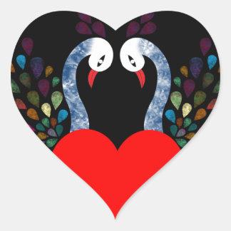 love pecock 3 heart sticker