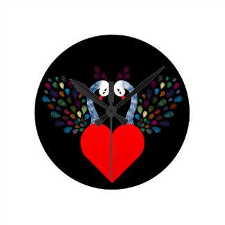 love pecock 3 round clock