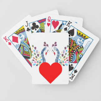love pecock bicycle playing cards