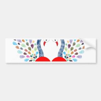 love pecock bumper sticker