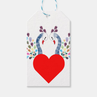 love pecock gift tags