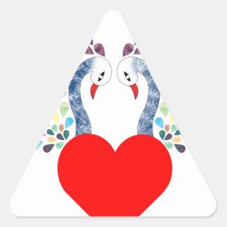love pecock triangle sticker
