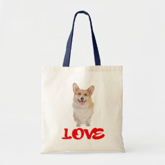 Love  Pembroke Welsh Corgi Puppy Dog Tote Bag