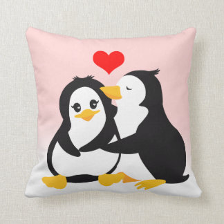 Love Penguins Pillow
