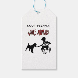 LOVE PEOPLE ADORES ANIMALS GIFT TAGS