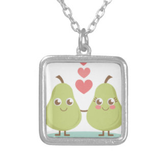 Love, perfect Pair- Wedding gifts, Anniversary Silver Plated Necklace