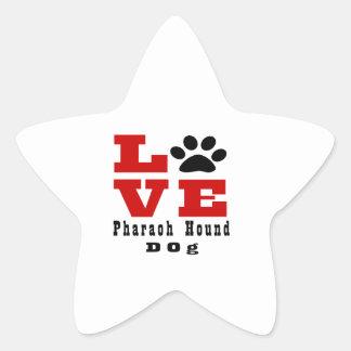 Love Pharaoh Hound Dog Designes Star Sticker
