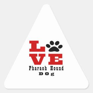 Love Pharaoh Hound Dog Designes Triangle Sticker