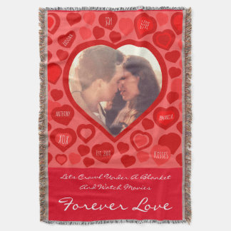 Love photo and quote throw