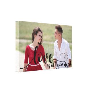 Love Photo Overlay | Create your own Custom Photo Canvas Print
