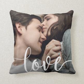 Love Photo Template Throw Pillow