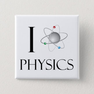 Love physics 2 inch square button