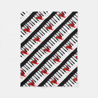 Love Piano Fleece Blanket