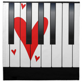 Love Piano Napkin
