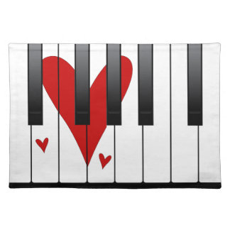 Love Piano Placemat