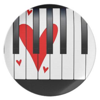 Love Piano Plate