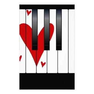 Love Piano Stationery