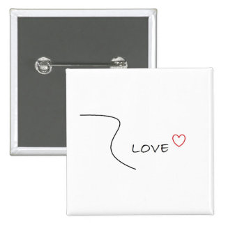 Love Pin with Line Design