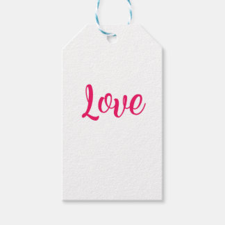 Love Pink Gift Tags
