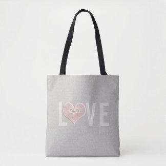 LOVE & Pink Heart | Tote Bag