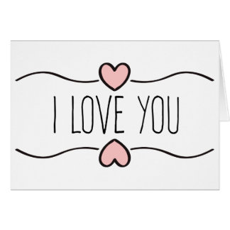 Love Pink Hearts Black And White Card