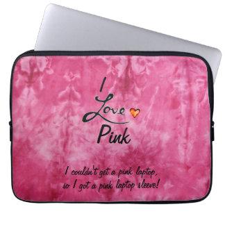 Love Pink Laptop Sleeve