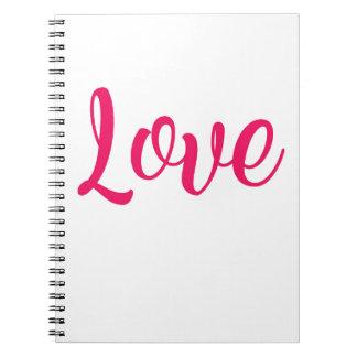 Love Pink Notebook