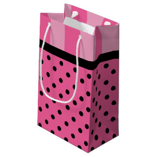 Love Pink Stripes And Polka Dots Party Gift Bags