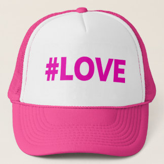 #LOVE- PINK TRUCKER HAT
