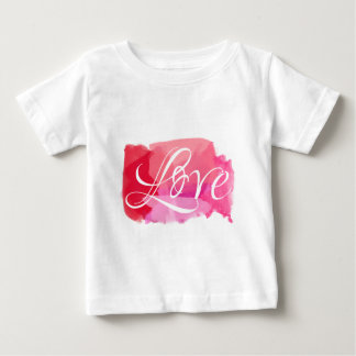 Love Pink Watercolour Baby T-Shirt