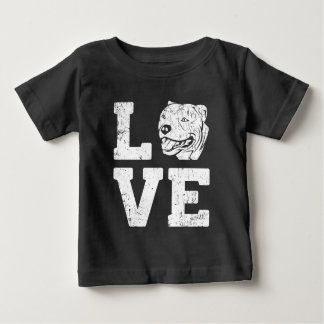Love Pit Bull Dog Baby T-Shirt
