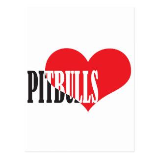 Love Pitbulls Postcards