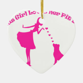 love pitty ceramic heart ornament