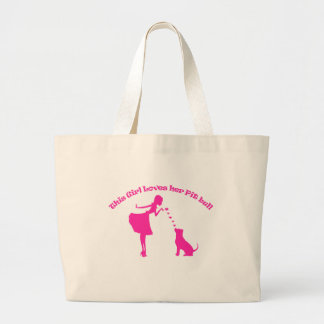 love pitty large tote bag